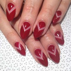 Considered the cut-out dress of the manicure world, negative space patterns — like this version by New York City's Vanity Projects salon — leave a portion of the natural nail bed exposed between areas of solid polish. Try out the trend by placing pieces of nail tape on prior to sweeping on a layer of color. Apply two coats, and once the color dries completely, peel back the tape to reveal your graphic pattern. - vanityprojects/Instagram