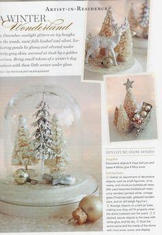 bottlebrush tree winterscape diy
