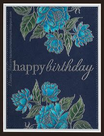 Color - then emboss - Backporch: Easy Stamping for Multiple Cards Technique, used prisma pencils, but could use other coloring mediums Card Making Tips, Card Making Techniques, Making Ideas, Birthday Cards For Women, Handmade Birthday Cards, Altenew Cards, Stampin Up Cards, Embossing Techniques, Embossed Cards