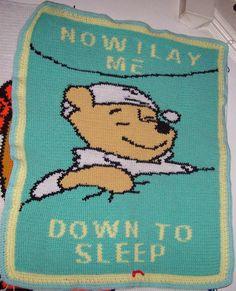 Now I Lay Me Down To Sleep Winnie the pooh blanket