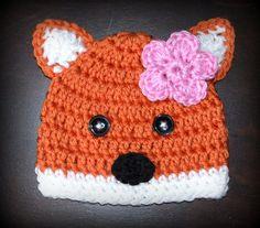 Crochet Fox Baby Beanie Hat & Matching Tutu by CubbyCreations, $55.00