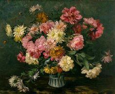 Emma De Vigne  Chrysanthemums in a Vase  1895