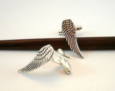 Angel Wings Cufflinks or Tie Tack Mens by BijottiCiciotti on Etsy