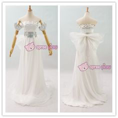 Sailor Moon Princess Serenity Tsukino Usagi Cosplay Long Gown Dress SP152473