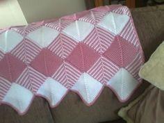 Ravelry: Baby Tunisian Diamond Afghan blanket pattern by Gillian Buckerfield