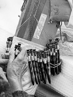 bobbin lace - Spain This is what I LOVE to do, make bobbin lace.
