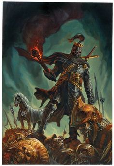 Lord Soth by Steve Ellis (comics and fantasy art extortioner). His comic, Only Living Boy is great too. Dark Fantasy Art, Fantasy Art Warrior, High Fantasy, Fantasy Rpg, Medieval Fantasy, Fantasy Artwork, Paladin, Dungeons And Dragons, Rpg Cyberpunk