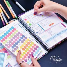 o Daily Planner é motivador, colorido e alegre. Vem com acessórios incríveis…