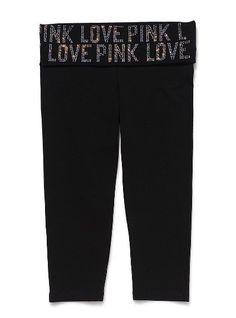 Bling Crop Legging - Victoria's Secret Pink® - Victoria's Secret