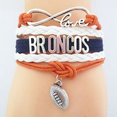 Infinity Love Denver Broncos Football Bracelet BOGO