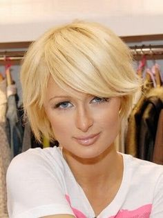 I actually am doing this...I am pinning a picture of Paris Hilton...I like the hair cut.