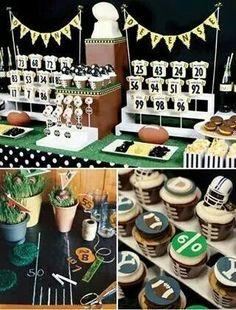 Mesa futbol americano! Football Tailgate, Baby Shower, Health Breakfast, Dessert Bars, Chocolate Desserts, Health Diet, Cupcake Cakes, Cupcakes, Birthdays