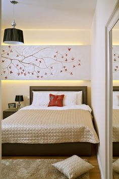 Schlafzimmer Ideen Gestaltung Modern Beige Braun Indirekte Beleuchtung