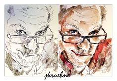 Tusche und Aquarell auf Aquarellpapier Collage, Portrait, Princess Zelda, Fictional Characters, Art, Figurine, Art Background, Collages, Headshot Photography