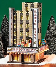 Dept 56 Radio City Music Hall Christmas In The City Building + RC Rockettes Department 56 Christmas Village, Lemax Village, Christmas Village Display, Christmas Village Houses, Christmas Villages, Christmas Decorations, Halloween Village, Christmas In The City, Beautiful Christmas