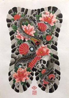 Японская татуировка в Москве • 89162225535 • Образцова, 14 Full Back Tattoos, Full Body Tattoo, Body Tattoos, Japanese Snake Tattoo, Japanese Sleeve Tattoos, Traditional Tattoo Art, Traditional Japanese Tattoos, Back Piece Tattoo, Birthday Tattoo