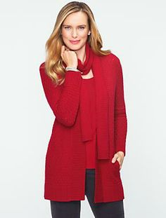 Talbots - Talbots Cozy Diamond-Cable Cardigan | Sweaters | Misses
