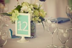 Sweet & simple framed table numbers | Photo by http://theapartmentphotography.com on http://WedOverHeels.com
