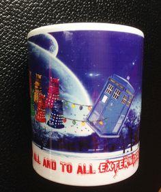 Doctor Who Daleks and Tardis Santas Sleigh  Mug by Hx5Designs, £9.99