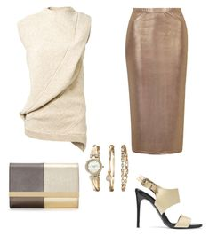 """""""Untitled #357"""" by mchlap on Polyvore featuring Victoria Beckham, Topshop, Anne Klein, Acne Studios and Fendi"""