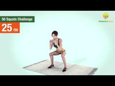 50 Squats Challenge [Lean Legs & Butt] - YouTube