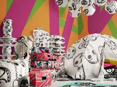 Ikea lancia Spridd: la nuova collezione pop e nomade Ikea Portugal, Pop Art, Ikea New, World Of Interiors, Ikea Furniture, Furniture Collection, Interiores Design, Cool Designs, Arts And Crafts