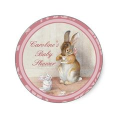 Beatrix Potter Baby Shower DIY Cupcake Toppers Sticker