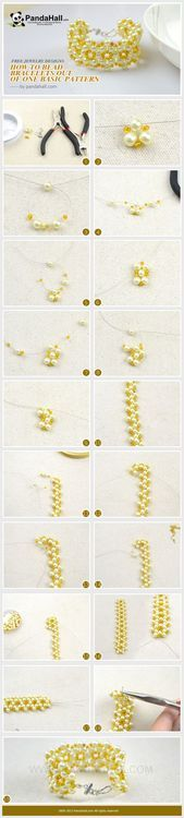 Free jewelry designs and tutorials. Learn to make skillful projects on how to bead bracelets. This tutorial is a good start to creating more exquisite handmade jewelry ornaments. (How To Make Bracelets Handmade) Wire Jewelry, Jewelry Crafts, Beaded Jewelry, Handmade Jewelry, Beaded Anklets, Crochet Jewelry Patterns, Bracelet Patterns, Beaded Bracelets Tutorial, Crochet Bracelet