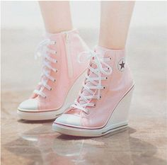 26 Nice Fashion High Heels Trending Now - Shoes Fashion & La.- 26 Nice Fashion High Heels Trending Now – Shoes Fashion & Latest Trends Brilliant Shoes Trends - Converse Rose, Converse Wedges, Converse Wedding Shoes, Converse High Heels, Women's Converse, Wedding Heels, Cute Shoes, Me Too Shoes, Shoe Boots