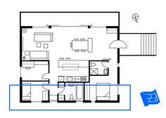 The northern side of the floor plan relates to the northern elevation. Click through to www.houseplanshelper.com for more on reading elevations, house plans and home design. Stairs Outside The House, Take The Stairs, Blueprint Symbols, Floor Plan Symbols, Orthographic Projection, Title Block, Free Floor Plans, Section Drawing, Elevation Drawing