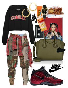 A fashion look from February 2017 featuring MSGM sweatshirts, RVDK pants and Rolex watches. Browse and shop related looks. 90s Outfit, Tomboy Outfits, Cute Swag Outfits, Dope Outfits, Retro Outfits, Casual Outfits, Urban Fashion, 90s Fashion, Fashion Outfits