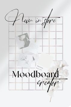 Trendy mood board creator. The possibilities are unlimited, you can adapt color palettes, typography, graphics, patterns, textures and pictures to create the feel and vibe of your brand. Designed to mix and match!