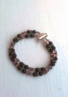 Swarovski Crystal and Pearls Bracelet with Bali Silver on Etsy, $140.00