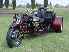 trike Photo Gallery - Supertrike Powered Trikes and Custom Trike Kits Custom Trikes For Sale, Custom Bikes, Custom Cars, Goldwing Trike, Custom Dashboard, Homemade Motorcycle, Crate Engines, Motorized Bicycle, Chopper Bike