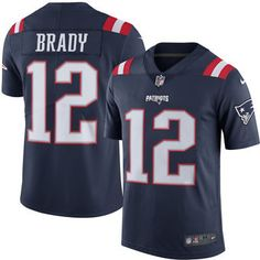 Men s New England Patriots  12 Tom Brady Nike Navy Color Rush Limited  Sticthed Jersey Patriots b28c30a8a