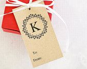 Christmas Gift Tags, Holiday Tags, Personalized Tags, Custom Gift Tags, Monogrammed Tag, Gift Wrap, Christmas Packaging – Set of 12 (MDHT)