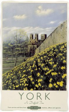 'York in Daffodil Time', BR poster, 1950.