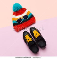 Top view Cap Hat Keds Hipster trend style. Spring Casual Urban Active fashion