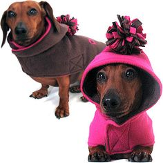 Eco Dog Coat - Recycled Pink and Bark Brown Fleece - Small  http://www.etsy.com/listing/85632522/eco-dog-coat-recycled-pink-and-bark?ref=sc_3&sref=