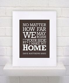 Dave Matthews Band Lyrics  How Far We May Roam  by KeepItFancy, $10.00