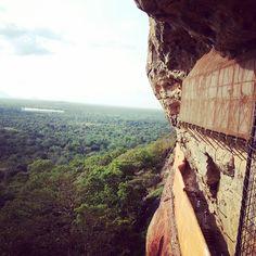 Sigiriya, half way up. Farmland and the elephant corridor surround. #srilanka #travel #sigiriya #vertigo #unesco #wayfairer #way_fairer
