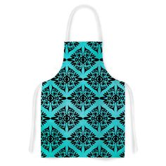 Kess InHouse Pom Graphic Design 'Eye Symmetry Pattern' Artistic Apron
