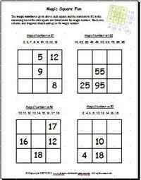5 Magic Square 3x3 Worksheet Magic Square Worksheets Are Fun And Help Kids Buld Math In 2020 Magic Squares Math Math Magic Maths Puzzles