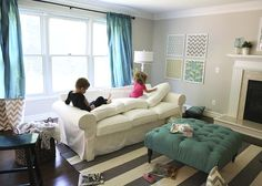 living room makeover with kids