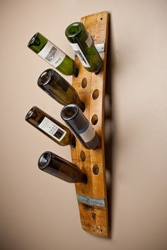 Napa Barrel Stave Wall Wine Rack by alpinewinedesign on Etsy.  {LOVE THIS!}