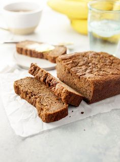 This vegan almond flour banana bread is naturally-sweetened and oil-free for a healthier alternative that is still moist and delicious! Paleo-friendly.