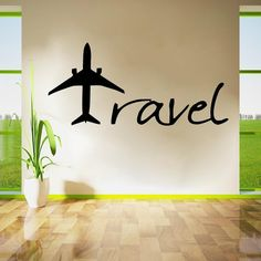 Travel Designed Wall Stickers The Effective Pictures We Offer You About travel design graphique A qu Travel Wall Decor, Office Wall Decor, Wall Stickers Love, Wall Stickers Travel, Travel Gallery Wall, Airplane Wall Art, Doodle Wall, Travel Office, Travel Plane