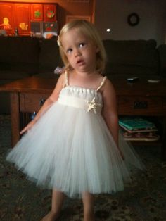 Beach Flower Girl Tutu Dress. $55.00, via Etsy.