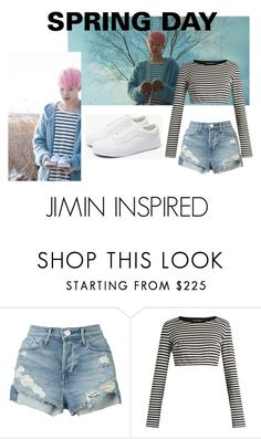 """""""Jimin ''Spring Day''"""" by tamaraaral on Polyvore featuring 3x1, Dolce&Gabbana y Vans"""