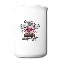 Cartoon Pig Bone Mug Personalized-Funny Accessories with 98% happy customers! Create custom shirts and personalized goods at HICustom,Use our online designer to add your design, logos, or text. easily!